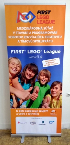 roll up banner first lego league
